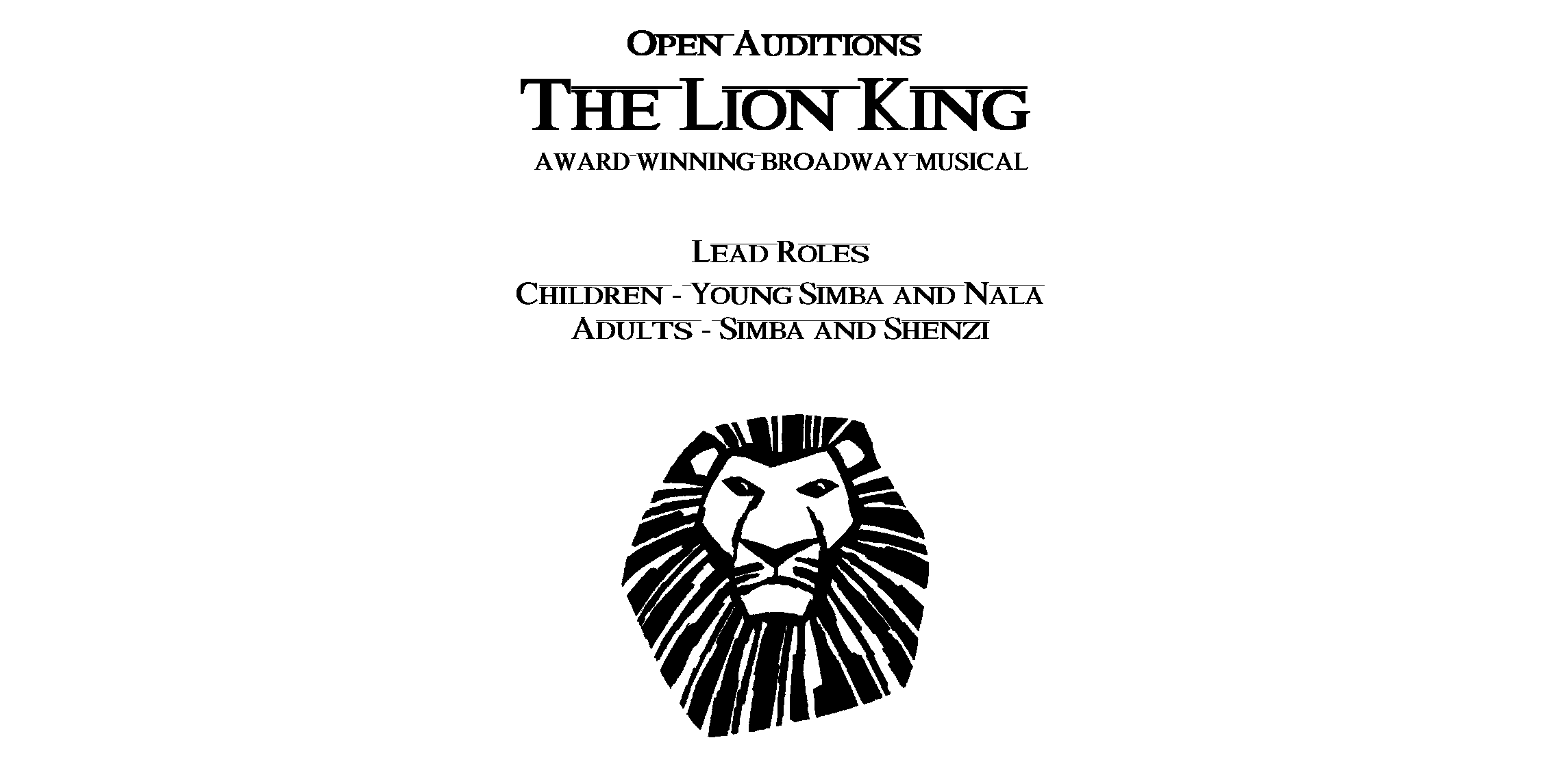 Disney holding open auditions for The Lion King 3